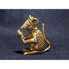 ネズミ(ガネーシャの乗り物)置物小