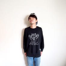 Sweat Crew Neck - HOWL -  Black