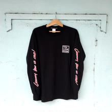 Long Sleeve T-shirt -CURIOSITY KEEP US CLEAN-  Black