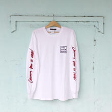 Long Sleeve T-shirt -CURIOSITY KEEP US CLEAN-  White