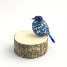 TakamuraGlassWorks/木にとまるあおい鳥C13