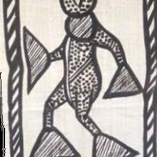 タペストリーコロゴ布(綿布)コートジボアール