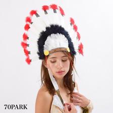 #Indian Feather Headdress  インディアン フェザー ヘッドドレス ヘッドバンド ハロウィン