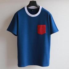 ライクデニムスウェット ポケットTシャツ BL