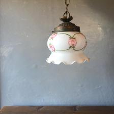 仏アンティーク ランプ ミルクガラス