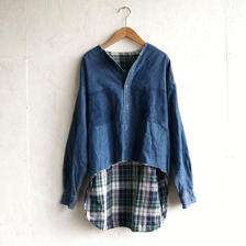 APPRECIATIVE Remake cutoff denim Shirt F