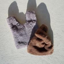 APPRECIATIVE fake fur bag