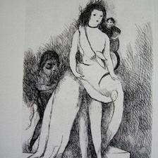 マリー・ローランサンの銅版画  送料無料
