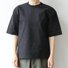 AURALEE / STAND-UP TEE(BLACK/lady's)