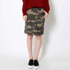 カモフラージュストレッチタイトスカート(カモフラ3/S~LL)