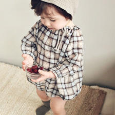 checked rompers / 70
