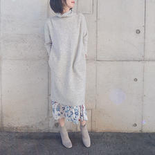 turtleneck knitted dress   L.GRAY