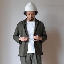 AUDIENCE SMALL STAND COLLAR 9/S RIGHT JACKET KHAKI オーディエンス スモールスタンドカラー 9分袖 ライトジャケット カーキグレー