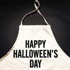 DRESSSEN ADULT APRON #20 HAPPY HALLOWEEN'S  DAY