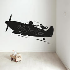 ウォールスティッカー 黒板 飛行機 XL - KEK Amsterdam
