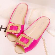 【Sale】 綺麗めFlat Sandal PK/GOLD