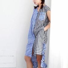 mosaic pleated dress