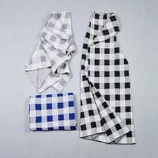 3colors-mosaic wide pants