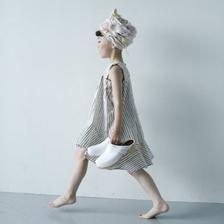 Tail wind dress (navy) / folkmade