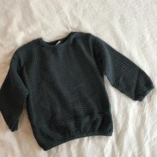 cotton linen pullovers*blue green