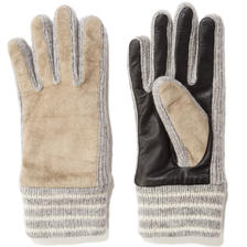 BAL / TOUCH SCREEN LEATHER GLOVES - SAND BEIGE
