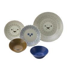 Mikke アニマルデザイン シェアランチセット ライオンとフクロウの食器