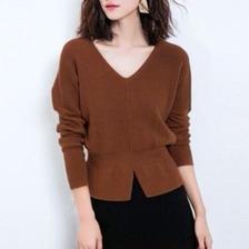 V neck  knit sweater