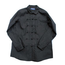 Rhythmor(リズモア 100/2オックスチャイナシャツ BLACK