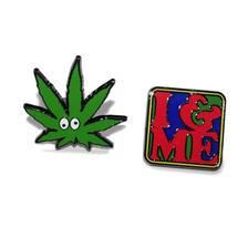 I&ME Love Weed Pins