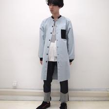 SHUTTLE shirt jacket (ice blue)