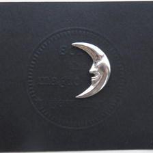 月のピン M 月タイピン 月タックピン 三日月ブローチ  のコピー  のコピー