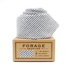 FORAGE ネクタイ-pale stripe-