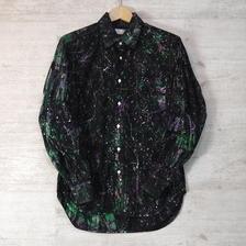 【 13ARROW/KATO 】 13ARROW/KATO×高蔵染 レギュラーカラーペイントシャツ(GREEN) <セール 15%OFF>