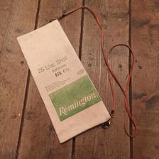 Vintage Lead Shot Pouch, Remington Green