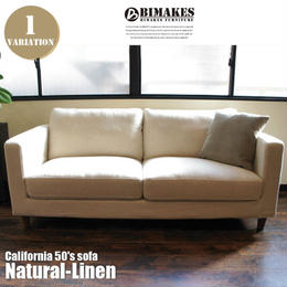 BIMAKES CALIFORNIA 50's SOFA Natural-Linen / ビメイクス カリフォルニア 50's  ナチュラルリネン ソファ