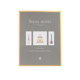メール便発送商品 / AW Sticky Note アーキテクチュアル ウォーターカラーズ スティッキーノート
