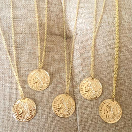 nature coin necklace(unisex)