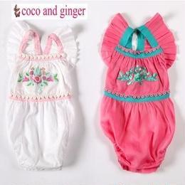 Coco and Ginger (ココアンドジンジャー)の刺繍が可愛いボディースーツロンパース☆ Rompers