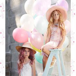 Tutu du monde★お花のモチーフが可愛いピンクの3段フリルスカートのチュチュドレス