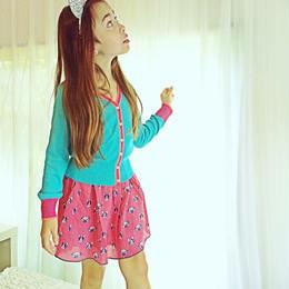 Mim-Pi(ミンピ)のボストンテリア&フレンチブルドッグのドットスカート frenchie and boston terrier print skirt