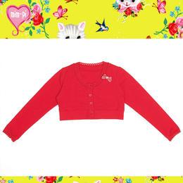 ボヘミアン調なMim-Pi(ミンピ)のWu&Wuコラボ猫ちゃんリボン付きカーディガン Crop cardigan with a kitty ribbon