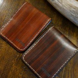 wood color 名刺カードケース