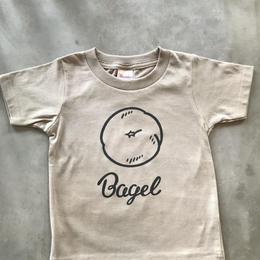 Bagel  T -kid's - ベージュ