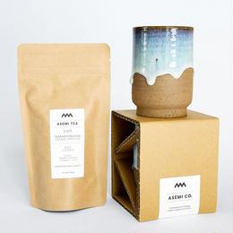松代焼 - カップ 大  + お茶 セット