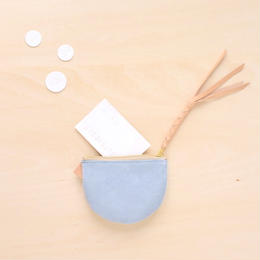 suzumeno pouch (スエード・iceblue)