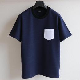 ライクデニムスウェット ポケットTシャツ DB