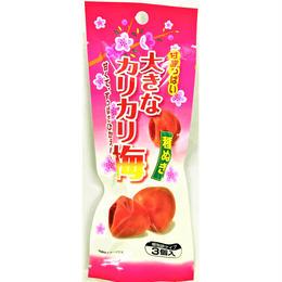 甘酸っぱい大きなカリカリ梅 種ぬき3個×6袋