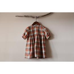 つぼみワンピース(秋色チェック) 80
