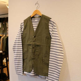 WORKERS  CRUISER  VEST    ( REVERSED  SATEEN )