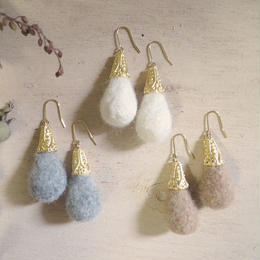 wool drop earrings